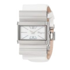 Salvatore Ferragamo Bow Renaissance Mother-Of-Pearl Women Watch Style F69MBQ9991 S001
