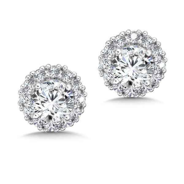Caro74 Halo Stud Earrings #CFE413W