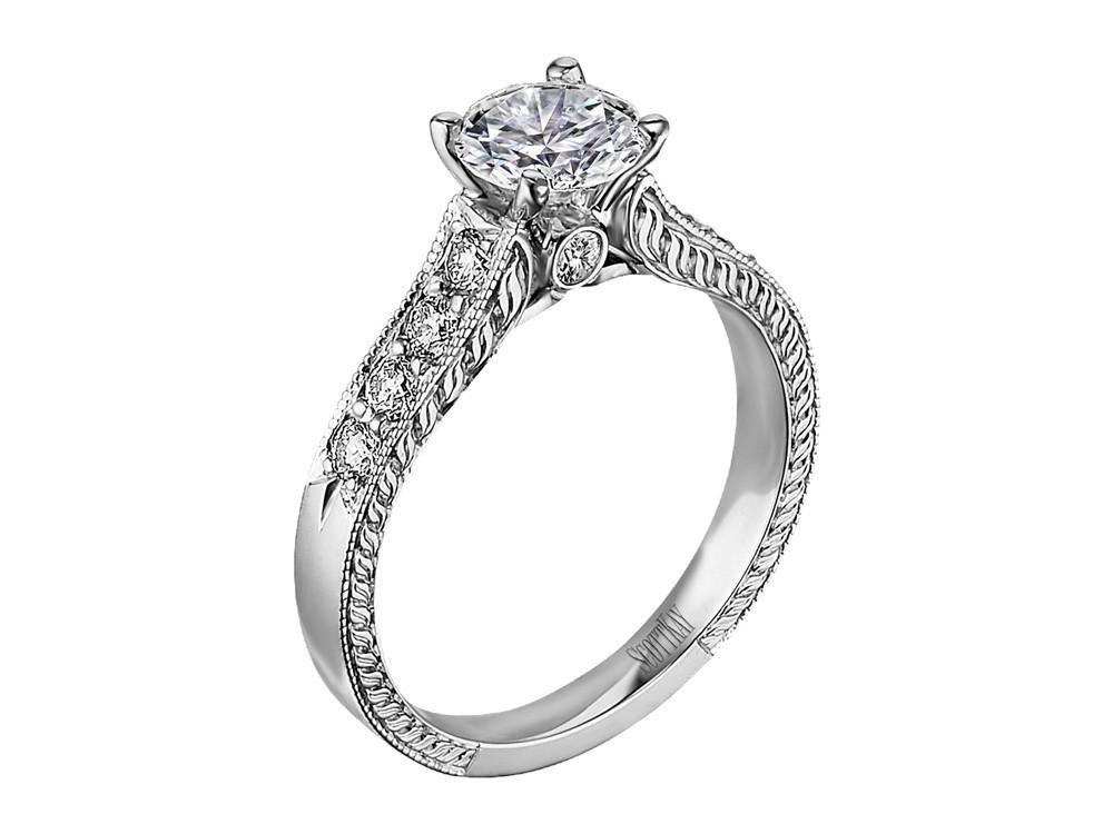 86baed236d0eba Scott Kay Vintage Engagement Ring #M1113RD10 - Diamond Brokers & Fine  Jewelry of Los Altos