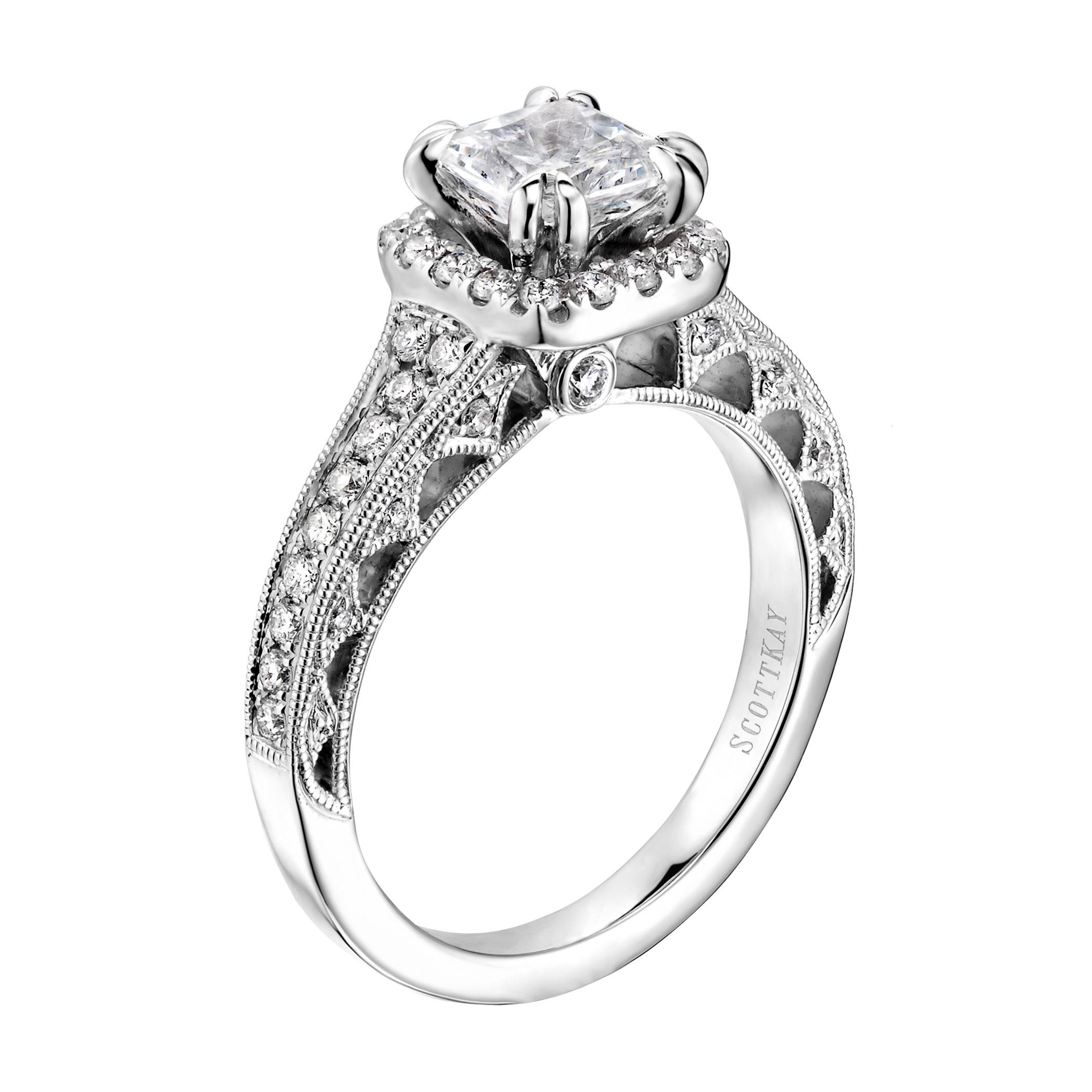 d233e3990 Scott Kay Heaven's Gates Engagement Ring #M1823R510WW - Diamond ...