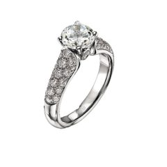 Scott Kay Contemporary Engagement Ring #M1112RD10WW