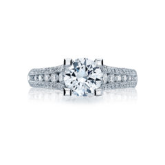 Tacori Crescent Engagement Ring #HT2513RD