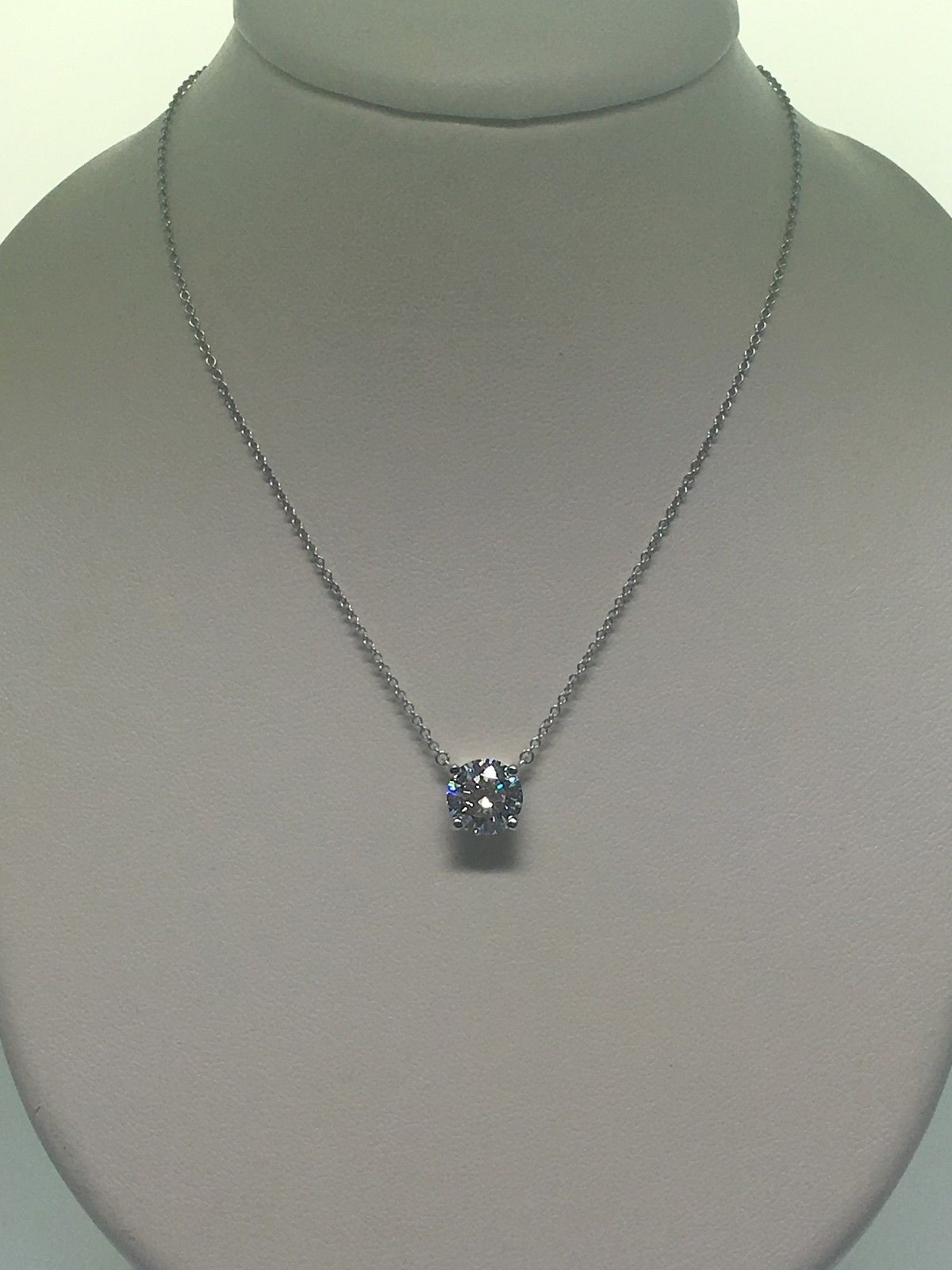 Tiffany Amp Co Diamond Stud Necklace Consignment 101
