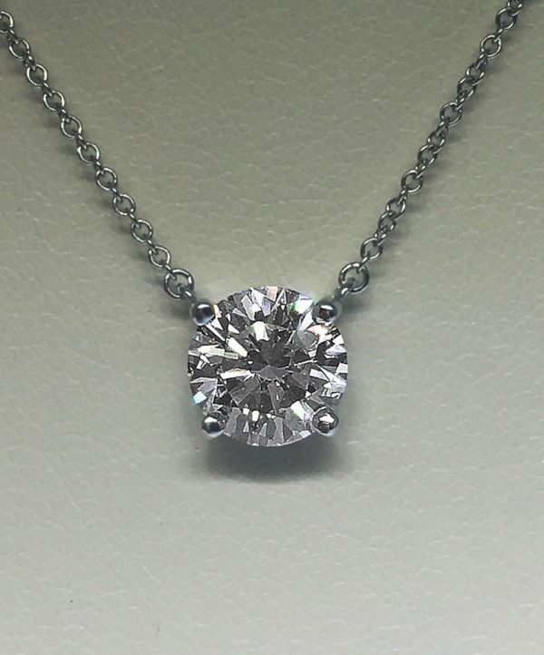 Tiffany & Co. Diamond Stud Necklace Consignment #101