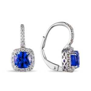 Lūvente Diamond & Tanzanite Drop Earrings Style #E02844-TZ.W
