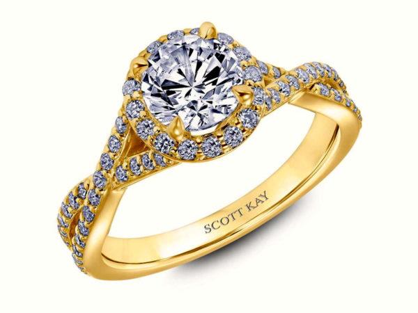 Scott Kay Namaste Engagement Ring #31-SK5637ERY